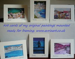 cards, paintings, gifts, art, framing, with envelope