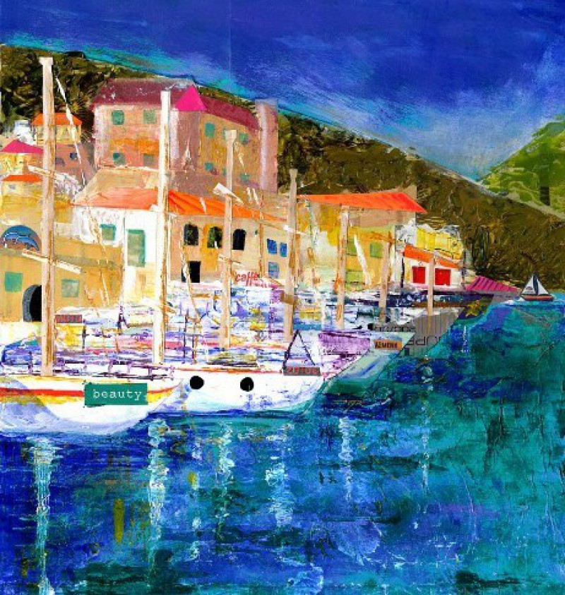 Giaos Quay. Paxos, boats, buildings, sea