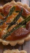 Savoury flan, Asparagus spears