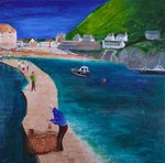 Port Issac, painting, art cards, Cornish paintings, Cornwall