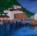 Polperro, painting, art cards, Cornish paintings, Cornwall
